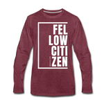 Fellow Citizen / Men Premium LS W - heather burgundy