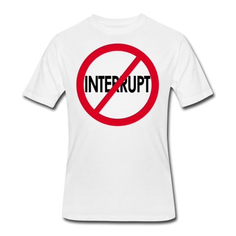 Don't Interrupt / Men Dri-Power RBlkC - white