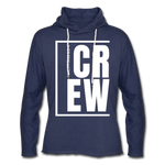 Crew / Unisex Rough-Cut Lightweight Hoodie W - heather navy