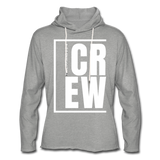 Crew / Unisex Rough-Cut Lightweight Hoodie W - heather gray
