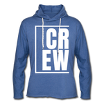 Crew / Unisex Rough-Cut Lightweight Hoodie W - heather Blue