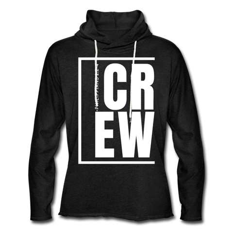 Crew / Unisex Rough-Cut Lightweight Hoodie W - charcoal gray