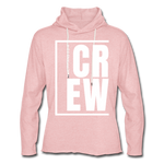 Crew / Unisex Rough-Cut Lightweight Hoodie W - cream heather pink