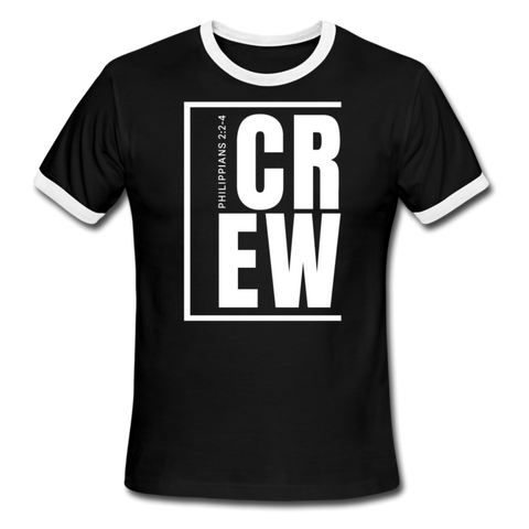 Crew / Men Ringer W - black/white