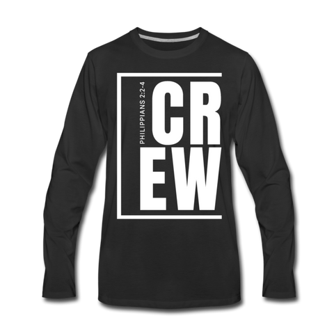 Crew / Men Premium LS W - black