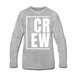 Crew / Men Premium LS W - heather gray