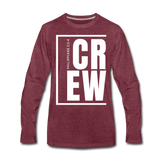 Crew / Men Premium LS W - heather burgundy