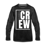 Crew / Men Premium LS W - charcoal gray