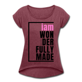 Wonderfully Made, i am / Wom. Tennis Tail PBlk - heather burgundy