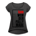 Wonderfully Made, i am / Wom. Tennis Tail RBlk - heather black