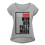 Wonderfully Made, i am / Wom. Tennis Tail RBlk - heather gray