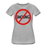 No Smoking / Wom. Perfectly Basic RBlkC - heather gray