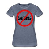 No Smoking / Wom. Perfectly Basic RBlkC - heather blue