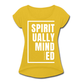 Spiritually Minded / Wom. Tennis Tail W - mustard yellow