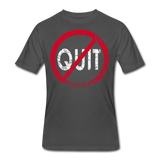 Don't Quit / Men Dri-Power RW Distressed - charcoal