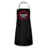 Full of Thanks Artisan Apron - black/white