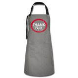 Full of Thanks Artisan Apron - gray/black