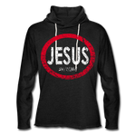 Jesus 24/7/365 Unisex Rough-Cut Lightweight Hoodie RWD - charcoal gray