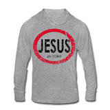 Jesus 24/7/365 Unisex Tri-Blend Hoodie RBlkD - heather gray