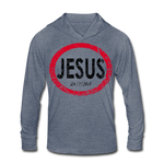 Jesus 24/7/365 Unisex Tri-Blend Hoodie RBlkD - heather blue