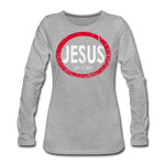 Don't Quit / Wom. Premium LS RW Distressed - heather gray
