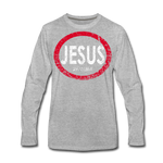 Jesus 24/7/365 - Men Premium LS RWD - heather gray