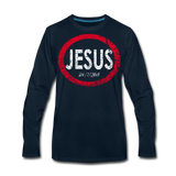 Jesus 24/7/365 - Men Premium LS RWD - deep navy
