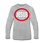 Jesus 24/7/365 - Men Premium LS RW - heather gray