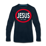 Jesus 24/7/365 - Men Premium LS RW - deep navy