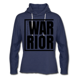 Warrior / Unisex Rough-Cut Lightweight Hoodie Blk - heather navy