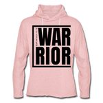 Warrior / Unisex Rough-Cut Lightweight Hoodie Blk - cream heather pink