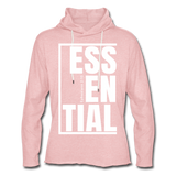 Essential / Unisex Rough-Cut Lightweight Hoodie / iamHIS White - cream heather pink