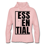Essential / Unisex Rough-Cut Lightweight Hoodie / iamHIS Black - cream heather pink