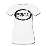 Essential / Wom. Perfectly Basic / unCommenTees Distressed Black - white