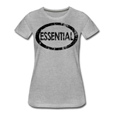 Essential / Wom. Perfectly Basic / unCommenTees Distressed Black - heather gray