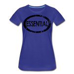 Essential / Wom. Perfectly Basic / unCommenTees Distressed Black - royal blue