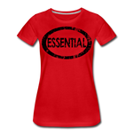 Essential / Wom. Perfectly Basic / unCommenTees Distressed Black - red
