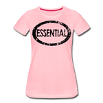 Essential / Wom. Perfectly Basic / unCommenTees Distressed Black - pink
