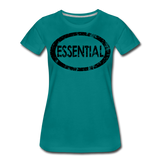 Essential / Wom. Perfectly Basic / unCommenTees Distressed Black - teal
