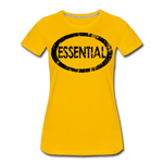 Essential / Wom. Perfectly Basic / unCommenTees Distressed Black - sun yellow