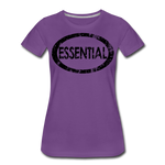 Essential / Wom. Perfectly Basic / unCommenTees Distressed Black - purple