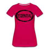 Essential / Wom. Perfectly Basic / unCommenTees Distressed Black - dark pink