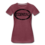 Essential / Wom. Perfectly Basic / unCommenTees Distressed Black - heather burgundy