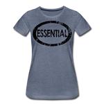 Essential / Wom. Perfectly Basic / unCommenTees Distressed Black - heather blue
