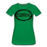 Essential / Wom. Perfectly Basic / unCommenTees Distressed Black - kelly green