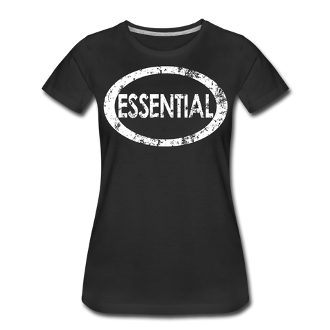 Essential / Wom. Perfectly Basic Uncommon Distressed White - black