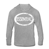 Essential / Unisex Tri-Blend Hoodie Distresed White - heather gray
