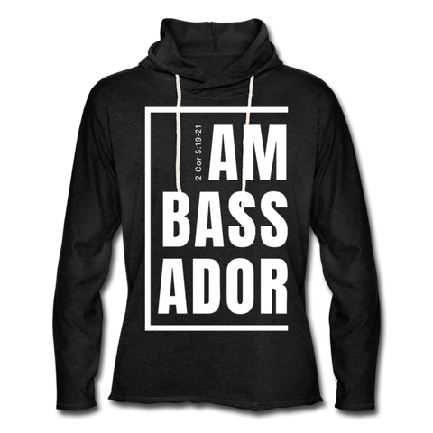 Ambassador / Unisex Rough-Cut Lightweight Hoodie W - charcoal gray