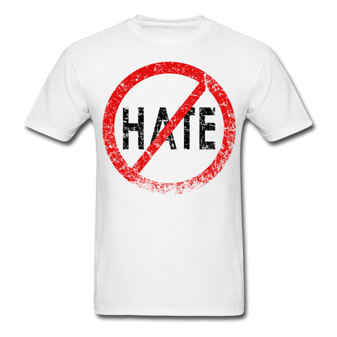 No Hate / Men Tagless RBlk Distressed - white