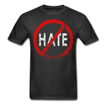 No Hate / Men Tagless RW Distressed - charcoal gray